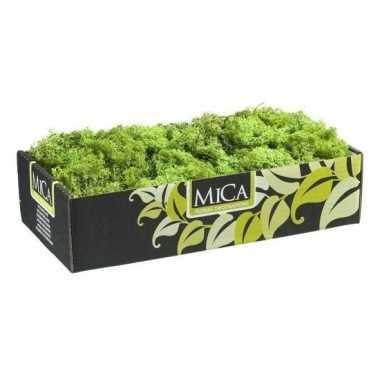 Decoratie/hobby mos groen gram