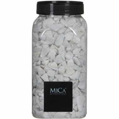 Decoratie/hobby stenen wit kg