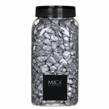 Decoratie/hobby stenen zilver kg