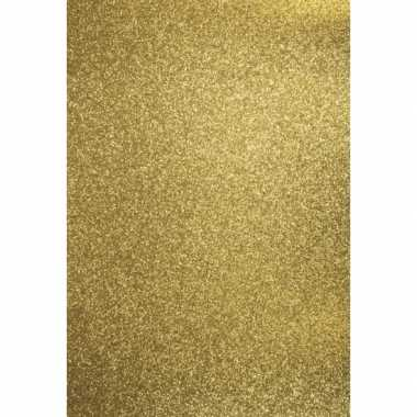Glitterend goud hobby karton a