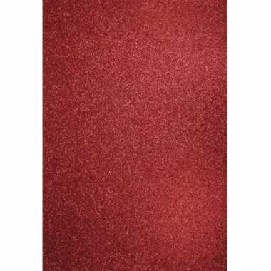 Glitterend rood hobby karton a