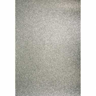 Glitterend zilver hobby karton a