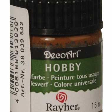 Hobby acrylverf bruin ml