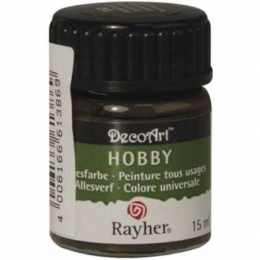 Hobby acrylverf donkerbruin ml