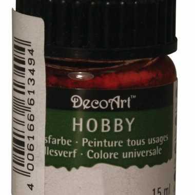 Hobby acrylverf rood ml