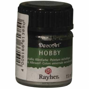 Hobby acrylverf zilver ml