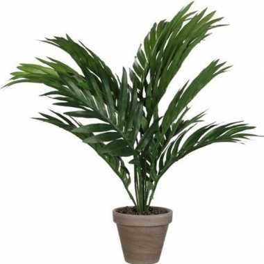 Hobby areca palm kunstplant groen pot