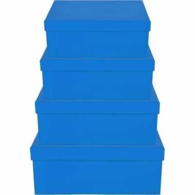 Hobby blauw cadeaudoosje rechthoekig