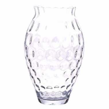 Ronde Bolle Glazen Vaas.Hobby Bloemenvaas Glas Reli F