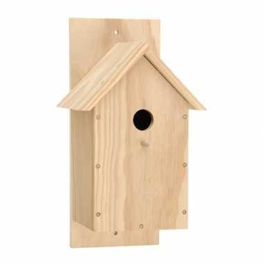 Hobby bouw je eigen houten vogelhuisje pakket