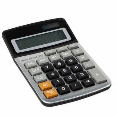 Hobby bureau/kantoor rekenmachine/calculator zonne energie