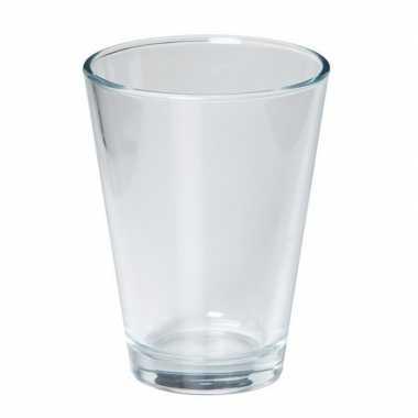 Hobby conische vaas helder glas