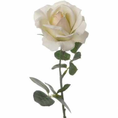 Hobby creme witte roos kunstbloem