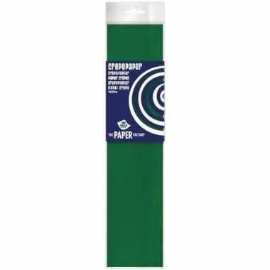 Hobby crepe papier plat groen knutsel materiaal