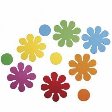 Hobby crepla ponsdeeltjes bloemen zelfklevend stuks