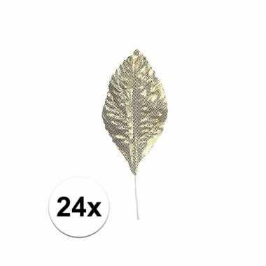 Hobby decoratie bladeren goud stuks