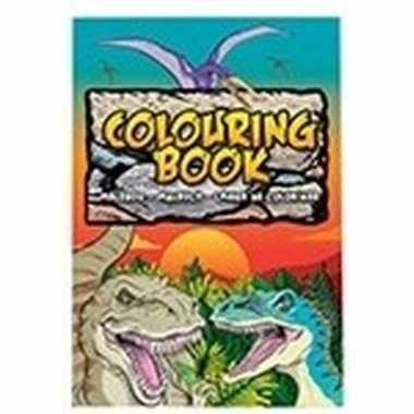 Hobby dino/dinosaurussen thema a kleurboek/tekenboek paginas