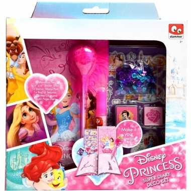 Hobby disney princess maak je eigen dagboek set meisjes