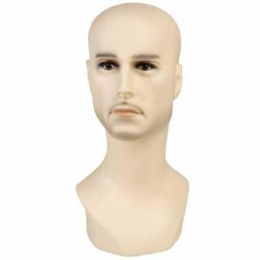 Hobby display hoofd blanke man