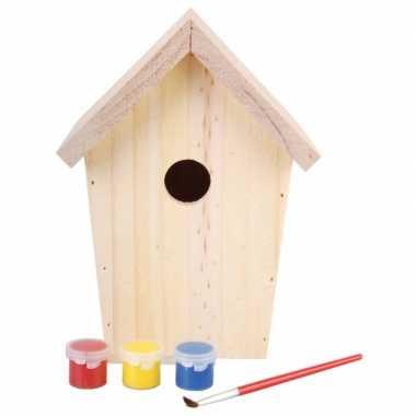 Hobby diy vogelhuisje schilderen
