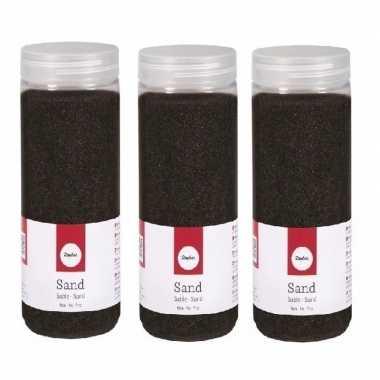 Hobby fijn decoratie zand zwart ml