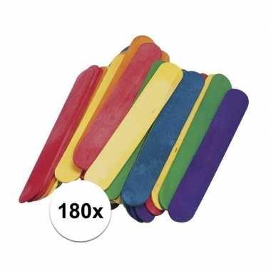 Hobby gekleurde ijsstokjes knutselhoutjes