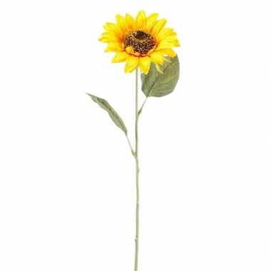Hobby gele zonnebloem kunstbloem