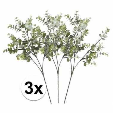 Hobby grijs/groene eucalyptus kunstplant tak