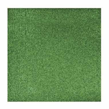 Hobby groen glitter papier vel