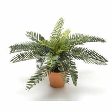 Hobby groene cycas palm/vredespalm kunstplant pot