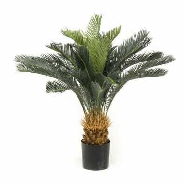 Hobby groene cycas revoluta/vredespalm kunstplant pot