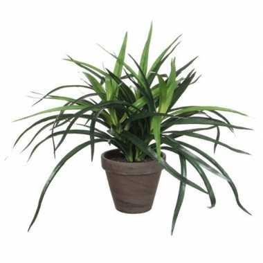 Hobby groene dracaena kunstplant bruine pot