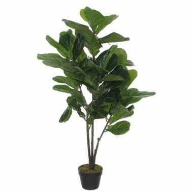 Hobby groene ficus lyrata/vioolbladplant kunstplant pot