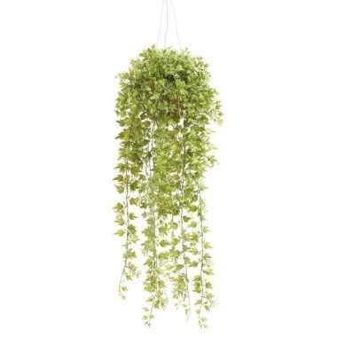 Hobby groene hedera/klimop kunstplant hangende pot
