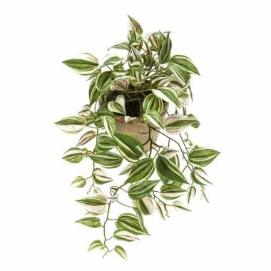 Hobby groene tradescantia/vaderplant kunstplant hangende pot