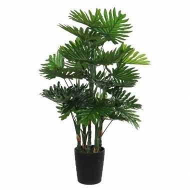 Hobby grote groene philodendron kunstplant zwarte pot