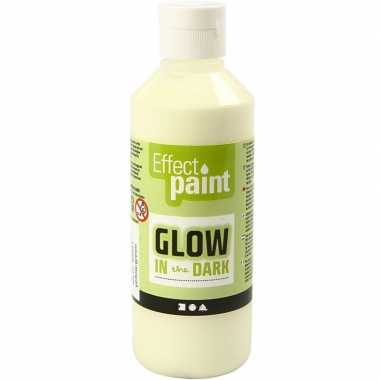 Hobby halloween gele glow the dark verf ml
