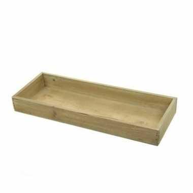 Hobby houten dienblad rechthoekig