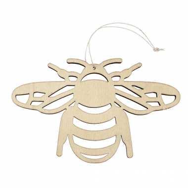 Hobby houten dieren decoratie hanger een honingbij