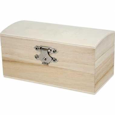 Hobby houten kistje onbedrukt