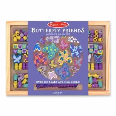 Hobby houten kralenset vlinders
