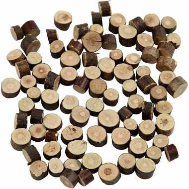 Hobby houten schijfjes klein gram