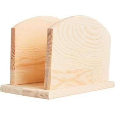 Hobby houten servetten houder om te knutselen