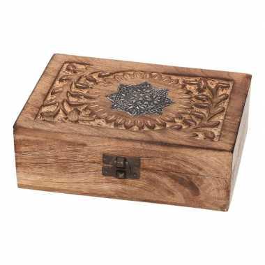 Hobby houten sieradenkistje/opbergkistje