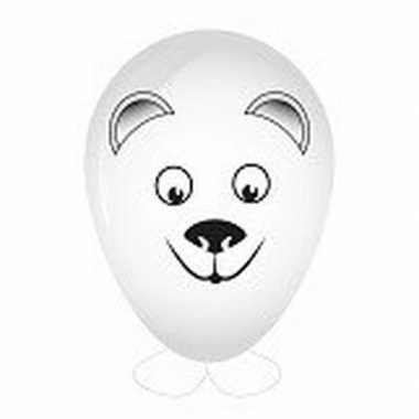 Hobby ijsbeer ballon versieren