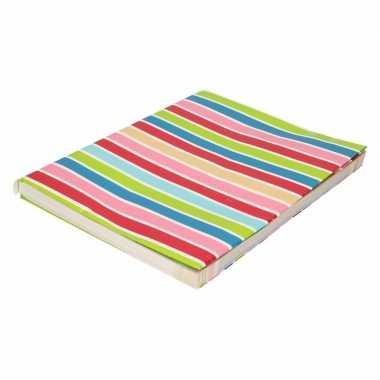 Hobby kaftpapier gekleurde streepjes