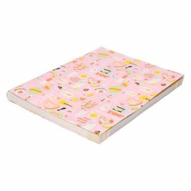 Hobby kaftpapier girlpower roze