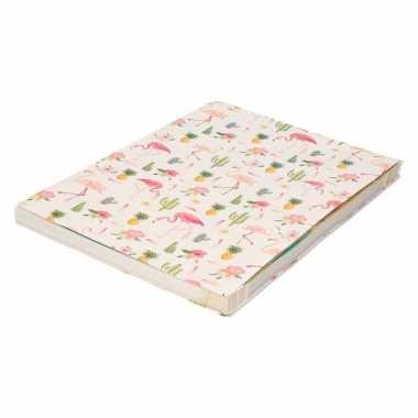 Hobby kaftpapier roze flamingos