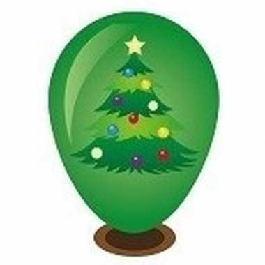 Hobby kerstboom ballon versieren