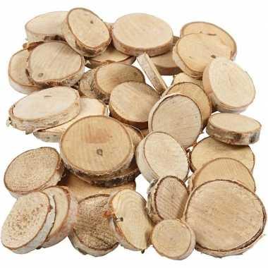 Hobby kleine houten schijfjes mix gram